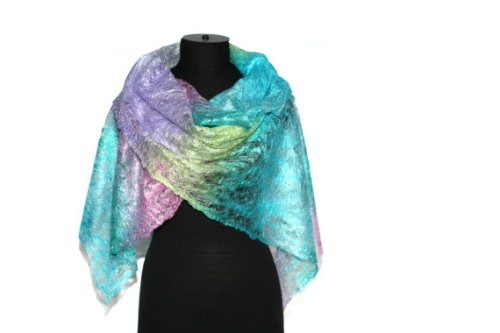 Felt Cobweb scarf by Felted Pleasure on Etsy